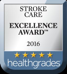 Healthgrades Stroke Care Award 2016
