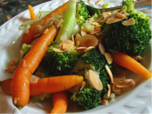 plate of Broccoli and Carrots