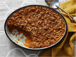 dish of Pumpkin Crumble