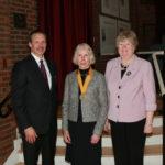 Elizabeth receiving award