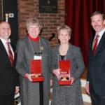 Jean and Linda receiving award