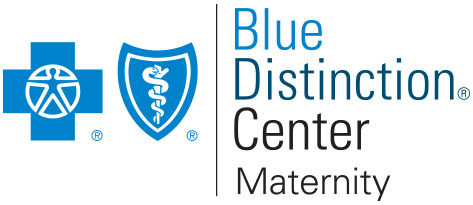 blue distinction center maternity logo