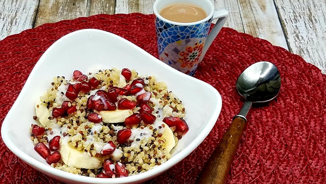 Pomegranate and Banana Quinoa