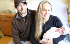 Kyle & Cassie with First Baby of New Year at Charlton Memorial