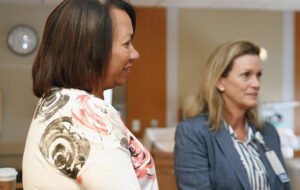 (l-r): Kim Pina, RN, Nurse Manager, and Deborah Toffey, RN, Executive Director of Women and Children's Care