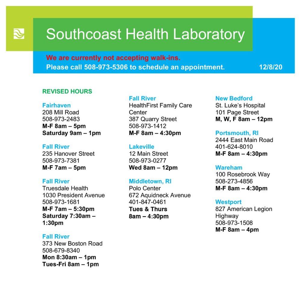 Medical Lab Testing Services MA & RI  Southcoast Health